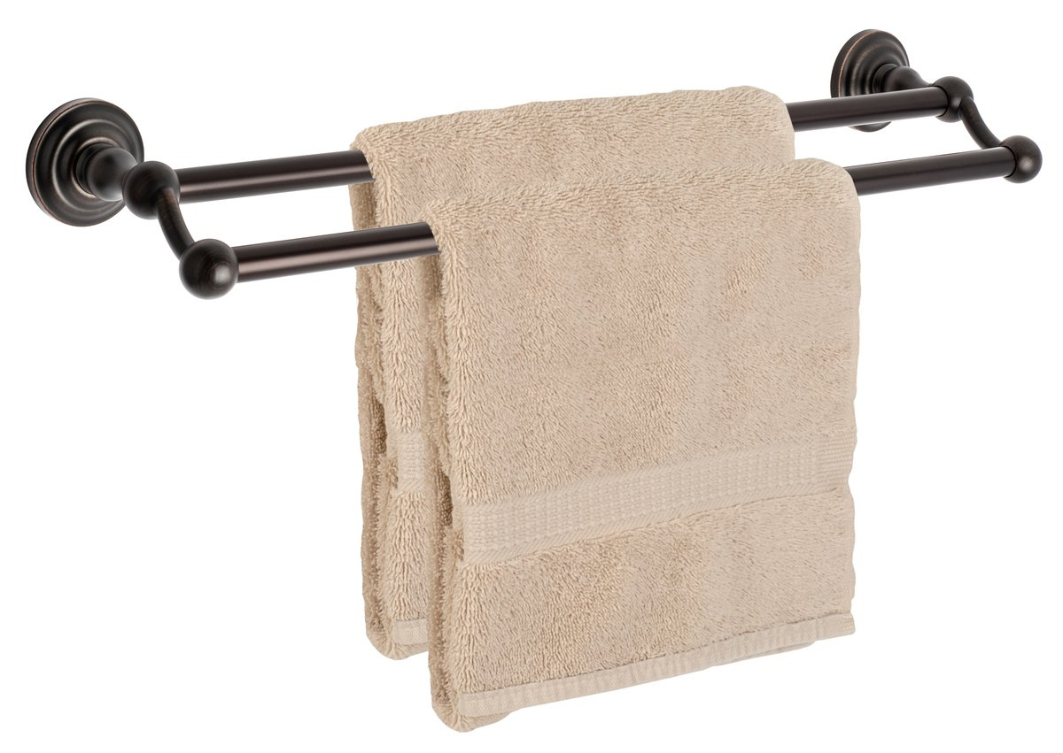 Dynasty Hardware 3816-ORB Palisades 24'' Double Towel Bar Oil Rubbed Bronze