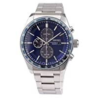 Deals on Seiko Mens Solar Chronograph Quartz 100m Stainless Watch