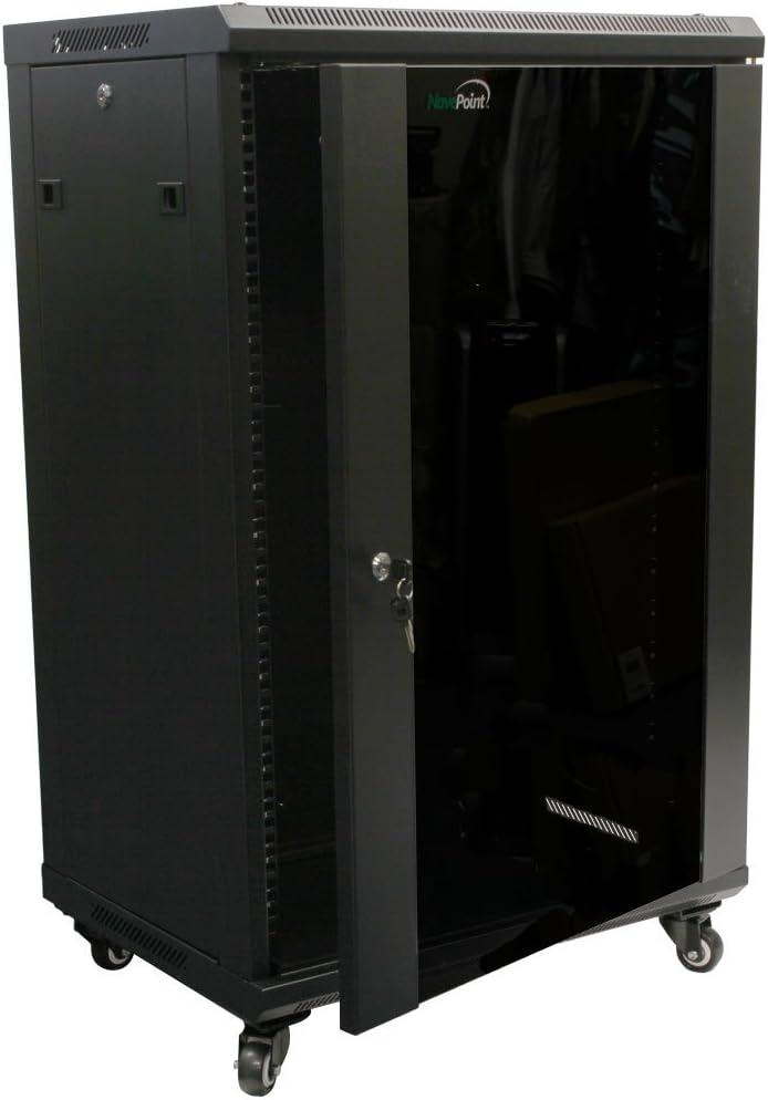 NavePoint 18U Wall Mount Network Server Cabinet Rack Enclosure ...