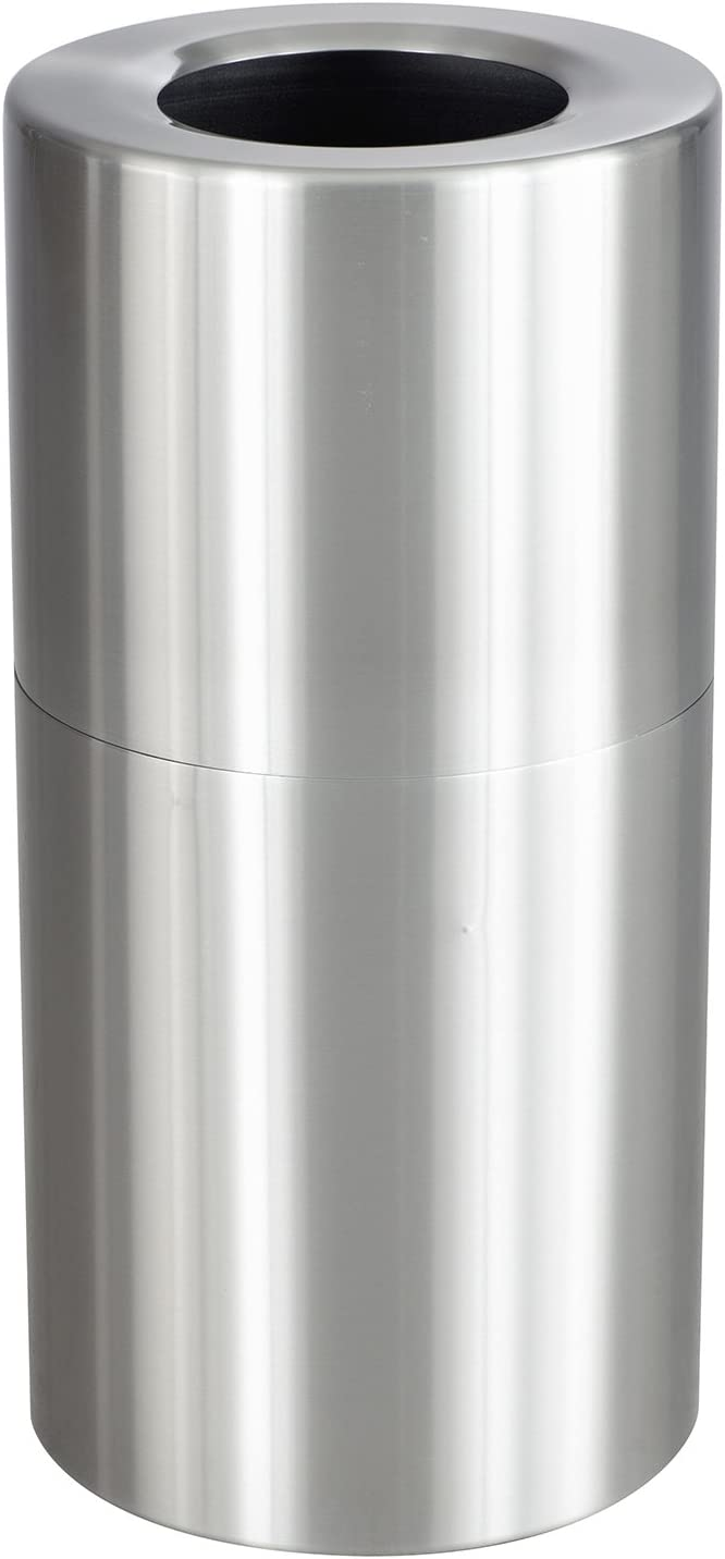 Safco Products 9942SS Recycling or Trash Can, 20 Gallon, Stylish Aluminum Exterior, Silver