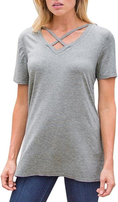 FAMILIZO Camisetas Mujer Manga Corta Camisetas Casual Mujer ...
