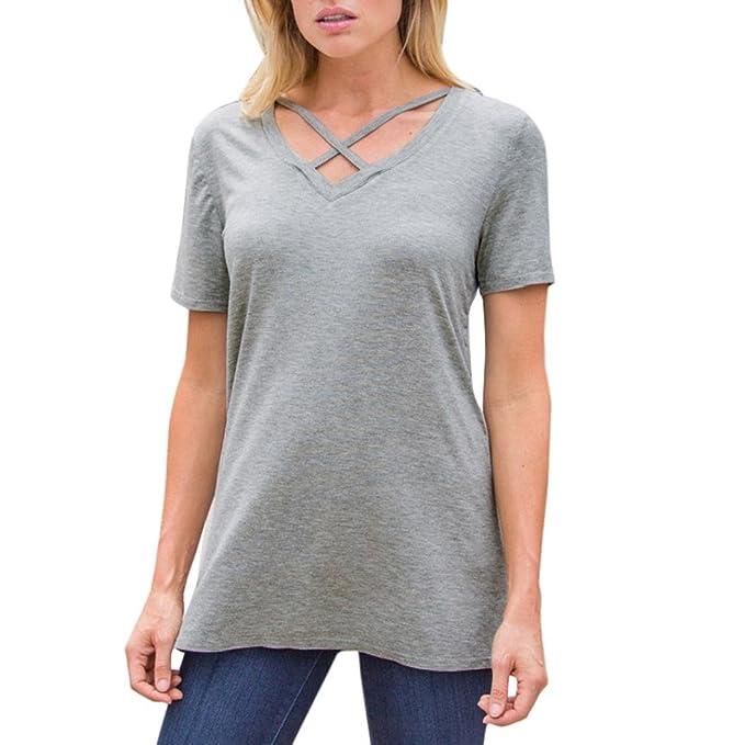FAMILIZO Camisetas Mujer Manga Corta Camisetas Casual Mujer Verano Camisetas Mujer Tallas Grandes Camisetas Mujer Verano