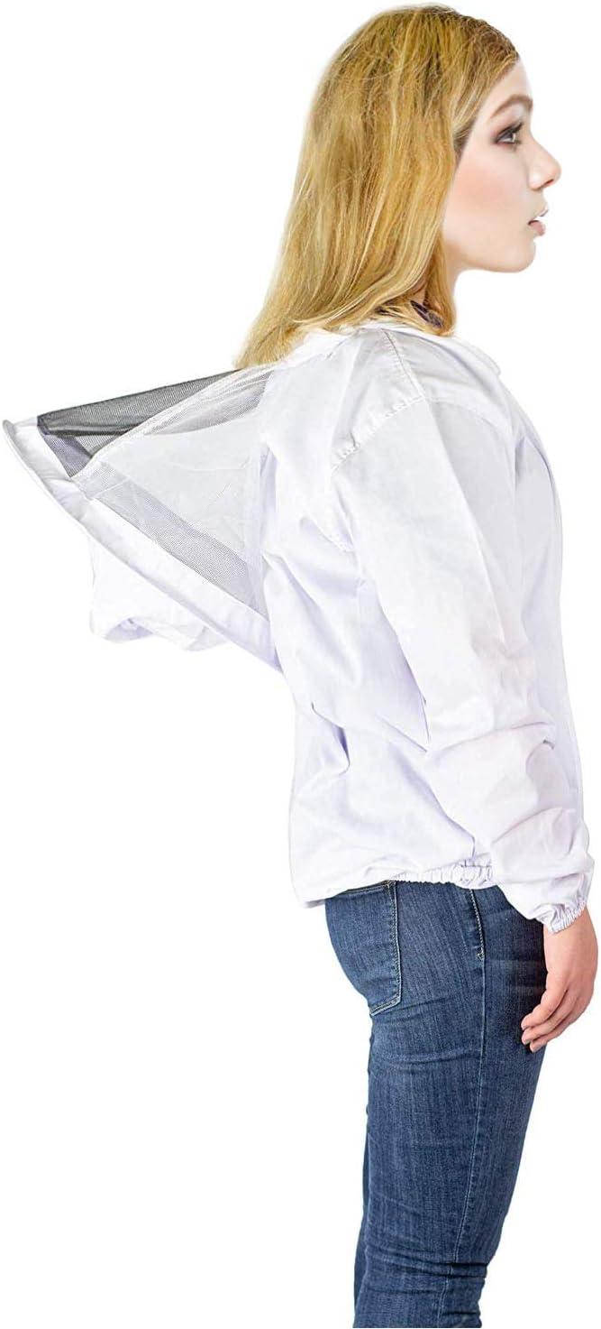Enzege Biene Jacke Imker Anzug Unisex Bienenzucht Schutz Kleidung Kost/üm Jacke
