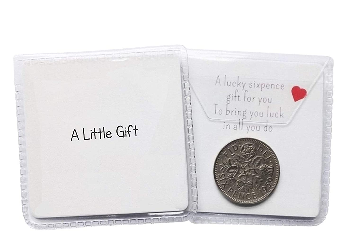 'A Little Gift' Lucky sixpence general gift for various occasions including wedding favours or as a little token present The Sixpence Seller