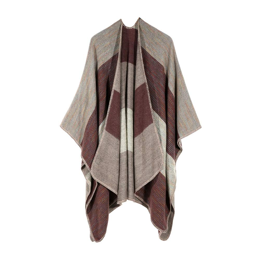 Excellent Women's Fall Winter Scarf Cloak Tassel Cape Mantle Scarf Quick Flabby Kerchief Wrap Shawl Scarves (Color : Brown, Size : 51.1 x 59.06 Inch') by Excellent