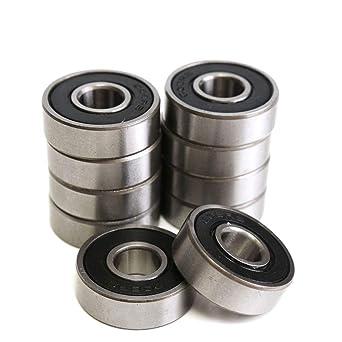 High Speed Deep Groove Radial Ball Bearing Roller Wheel Rubber Seal Bearings