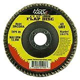 Hot Max 26276 4-Inch X 5/8-Inch Arbor Flap Disc, 40 Grit, Blue Zirconia