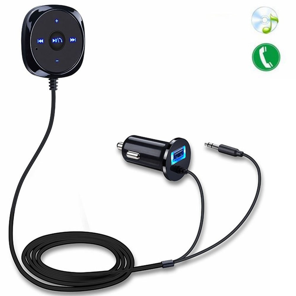 angel3292 Deals Wireless Bluetooth Car 3.5mm AUX