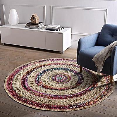 DCY Rug Pura Mano de Tejer alfombras anudadas Yute algodón, además ...