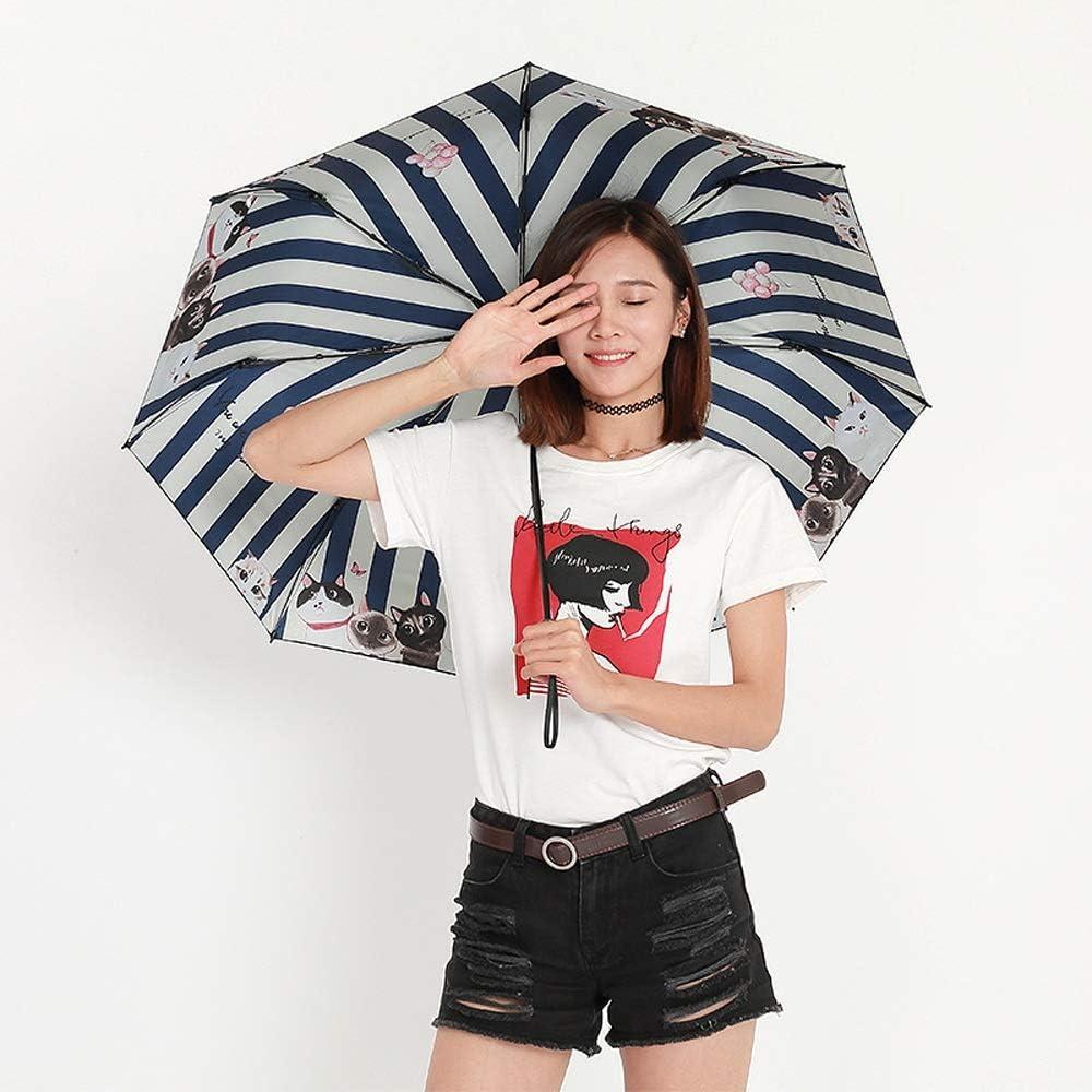 C.W.USJ Umbrella Umbrella for Women Men Windproof Travel Sun Umbrella Design Fashion Reinforced Canopy Ergonomic Handle Color : Pink, Size : One Size