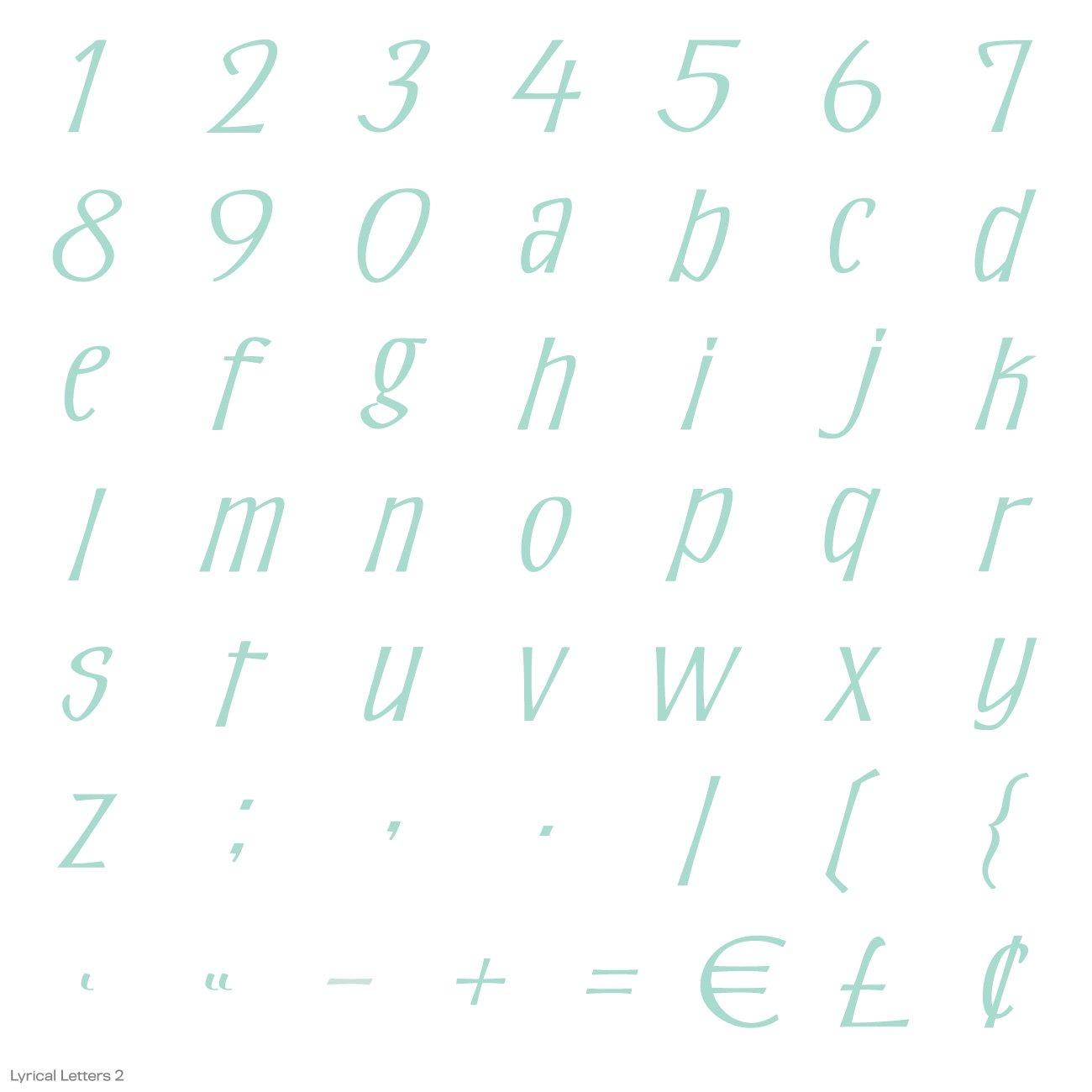 Cricut Lyrical Letters 2 Cartridge by Cricut (Image #20)