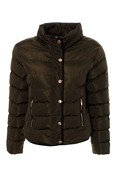 Women Quilted Padded Jacket Parka Puffer Warm Ladies Outerwear Winter Short Coat