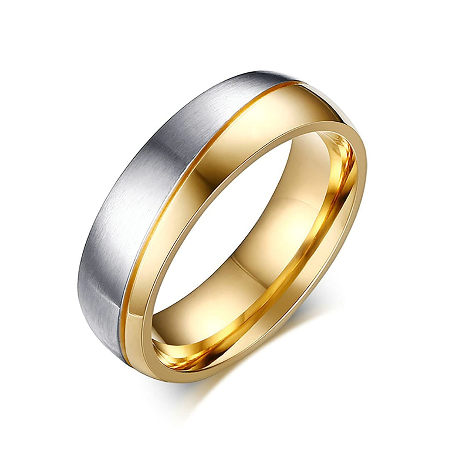 Amazoncom Tianyi Stainless Steel 18K Gold Plated Wedding
