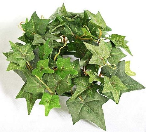 English Ivy Flowers - 6 Darice Artificial Silk Flocked Green English Ivy Candle Rings