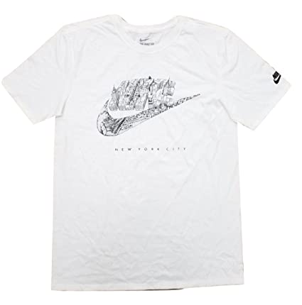 a3fbbb2d6c9 Image Unavailable. Image not available for. Color: Nike Men's New York City  Futura Crew Neck Graphic T-Shirt 747191-101 White