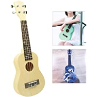 DIY Ukelele Kit,4 String Maple Basswood Soprano Ukulele Accessory Paintable and dyeable,Send screwdriver and gloves, for…