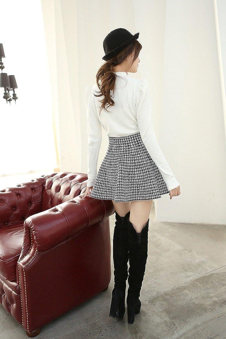 Botong Cute High Waist Tartan Skirt One Size Fit All Short Mini Skirt