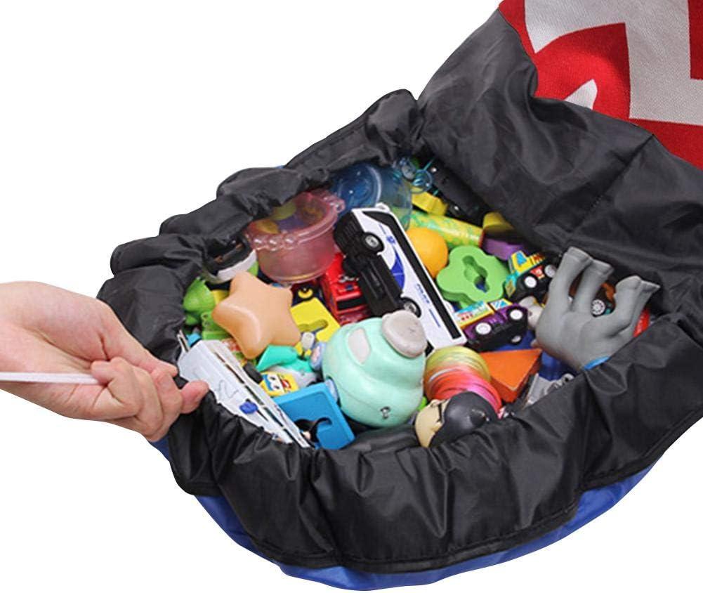vogueyouth Toy Storage Bag Kids Rug Toy Organizer for Home Travel Large Play Mat Bag Portable Tidy Organiser with Drawstring 3 Sizes Optinal