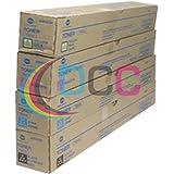 Konica Minolta TN-514K TN-514C TN-514 TN-514Y Bizhub C458 C558 C658 Toner Cartridge Set (Black Cyan Magenta Yellow, 4…