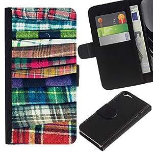 For Apple Apple iPhone 6(4.7 inches),S-type® Fashion Fabric Sewing Design Clothes - Dibujo PU billetera de cuero Funda Case Caso de la piel de la bolsa protectora