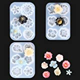 7pcs flower mould Pendant Ornament Crafts Necklace iSuperb 7 pieces Resin Molds Cute Flowers Silicone Mold Crystal Sunflower Mould for Jewelry Pendant Charms Making DIY Earring