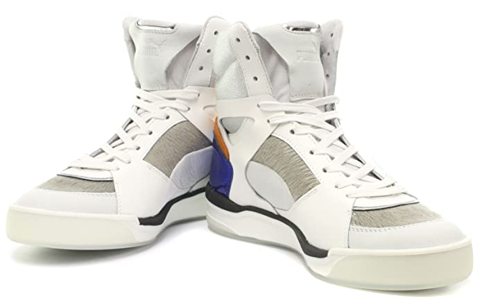 b01fc32eed48e6 Puma Alexander McQueen MCQ Move Femme Mid White Womens Trainers  Amazon.co. uk  Shoes   Bags