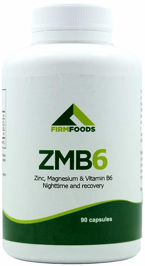 ZMB6 90 cápsulas de zinc, magnesio y B6 - Formula esencial de vitaminas y minerales