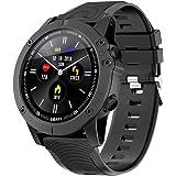 Bluetooth-smartklockor 1,3 tum helt rund HD-färgskärm IP68 vattentät fitness tracker med GPS sport spårning meddelande…