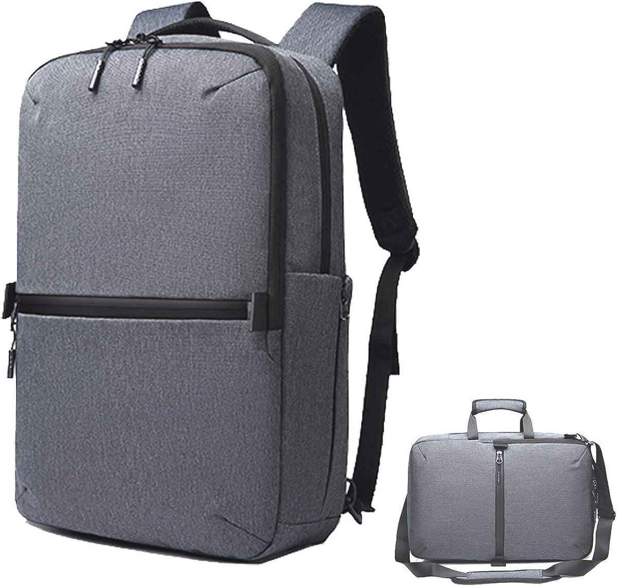 """17.3"""" Men's Messenger Bag Canvas Laptop Bag, Hybrid Multifunction Briefcase"""