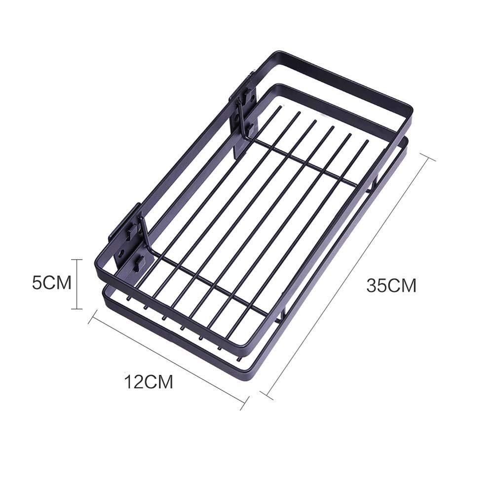 Wall-Mounted Spice Rack Kitchen Counter Storage Rack for Seasoning Cans, Etc,35cm by JXS-dish rack (Image #2)