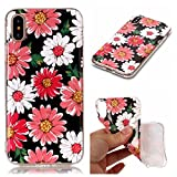 iPhone X Case, iPhone 10 Case, TOODAY Marble Stone New Pattern IMD TPU Anti-Finger Anti Scratch Sleek Soft Flexible TPU Cover Case for Apple iPhone X (2017 Released) (Primrose)