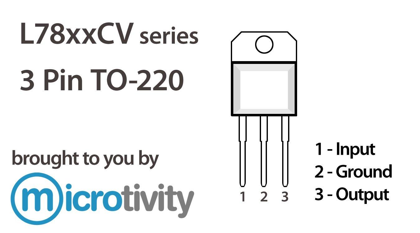 Microtivity Pack Of 5 7809 9v Linear Voltage Regulator Ics Arduino 6 Volt Circuit Using 7806 Industrial Scientific