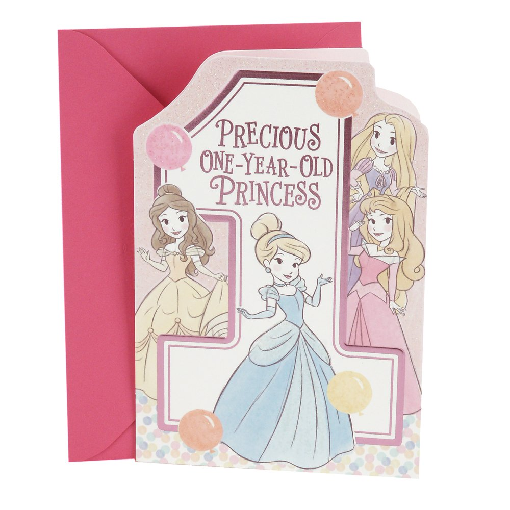 Amazon Hallmark 1st Birthday Greeting Card For Girls Disney