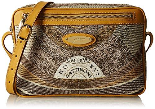 Gattinoni Gacpu0006101, Borsa a Tracolla Donna, 5x19x28 cm (W x H x L) Beige (Deserto)