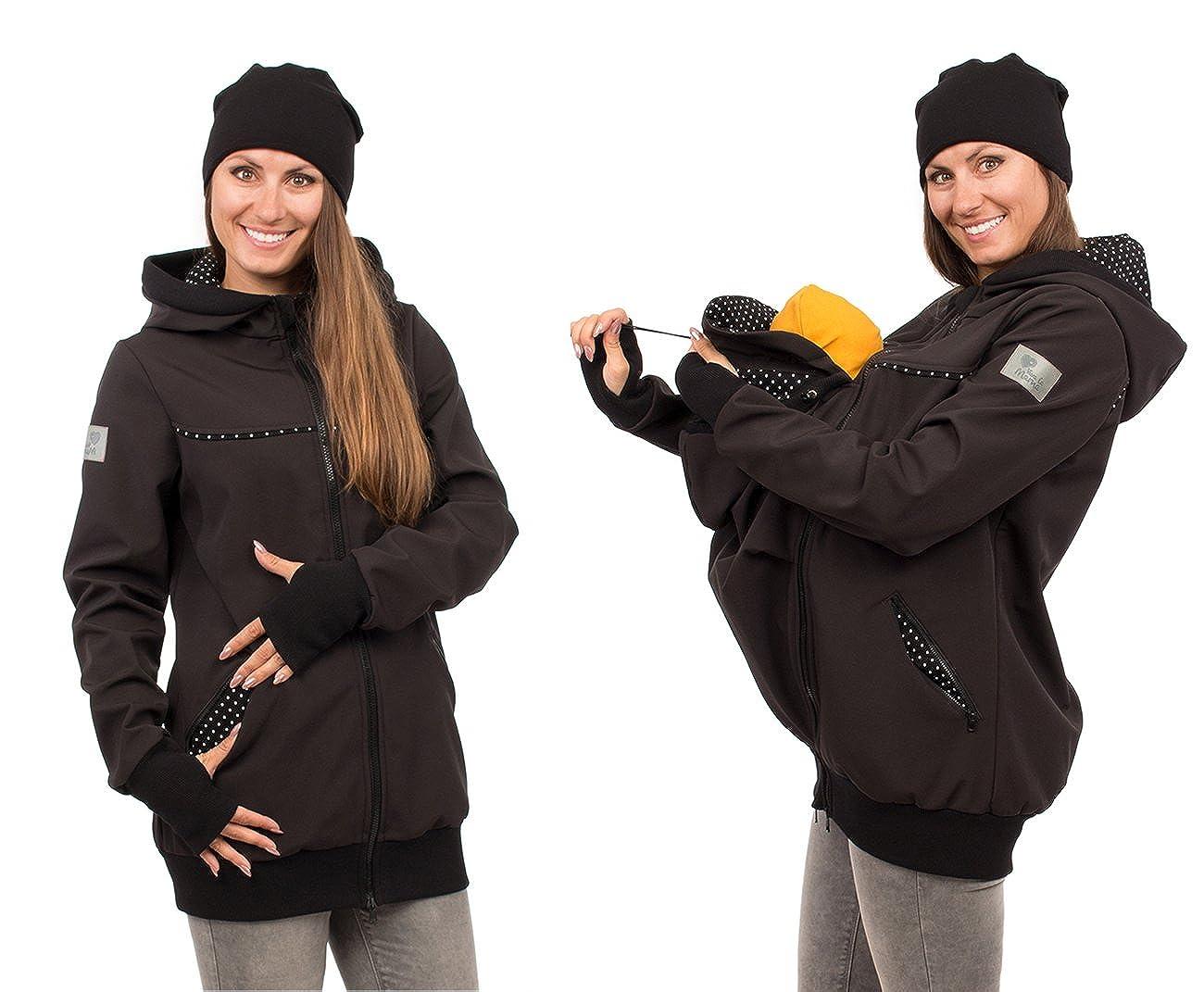 Viva la Mama 4in1 Tragejacke für für für Tragen auf dem Rücken oder der Brust, Softshell, Umstandsjacke + Kängurujacke - AVENTURIS B07DNWNSZV Jacken Großer Räumungsverkauf 0d828a