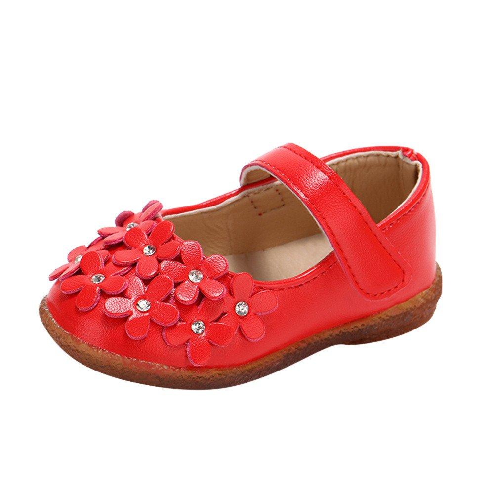 Zapatos de ️️Lonshell ❤️Sandalias de Flores para Niñ as Bebé s de Princesa Sandalias Antideslizantes Fondo Suave Zapatillas de Verano Zapatos de Princesa para Fiesta Boda