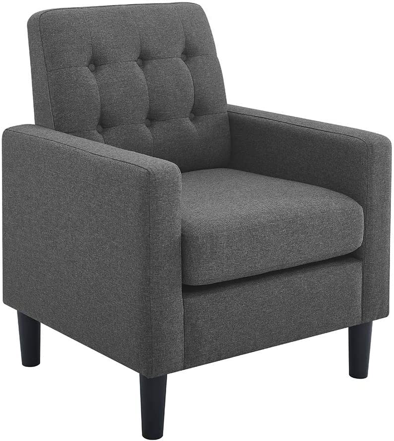 BEEY Upholstered Armchair Accent Arm ChairSofa Noble Lounge Modern Single Sofa with Thick Padded Back Cushion for Home/Office