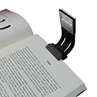 Book Light, LED Reading Light, USB Rechargeable and Adjustable Brightness Flexible Reading Lamp,Mighty Bright XtraFlex LED Book Light, Black