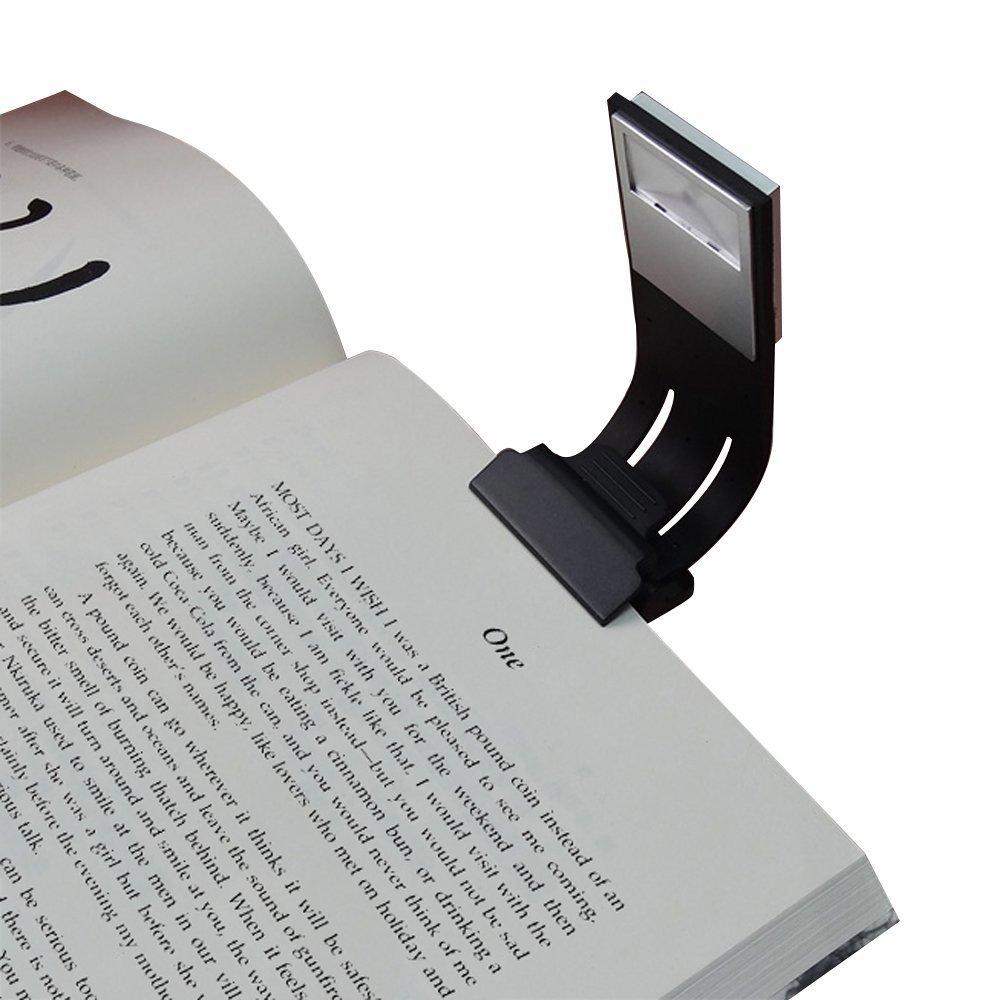 Clip-on LED Reading Light Lamp Flexible Arm E-Reader Light with USB Rechargeable 4-Level Adjustable Brightness Book Lights for eBook Readers, Tablet, iPad, Kobo, Laptops etc (Black)