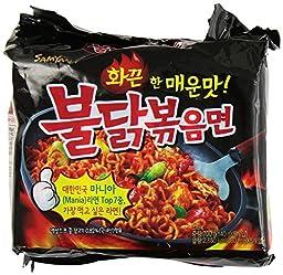 Samyang Bulldark Spicy Chicken Roasted Noodles, 4.9 Oz (Pack of 10)