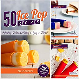 Sunsella Premium Silicone Popsicle - Ice Pop Molds - Set of 6 with Lids