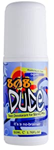 808Dude Certified Organic Deodorant for Teen Boys. Eliminate Kids Stinky Pits. Aluminum Free. Native and All Natural Cruelty Free and Vegan Ingredients for The Ultimate Kidz Armpit Detox 50ml