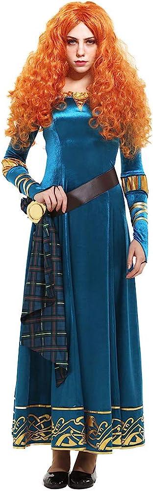 Women's Princess Merida Adult Dress Cosplay Costume
