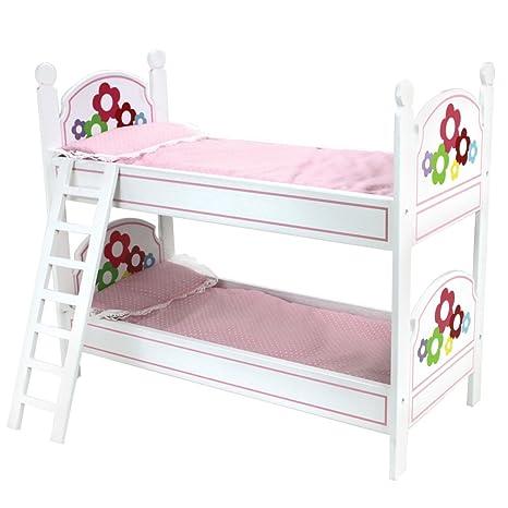 Amazon Com Sophia S 18 Inch Doll Bunk Bed Doll Bedding Ladder