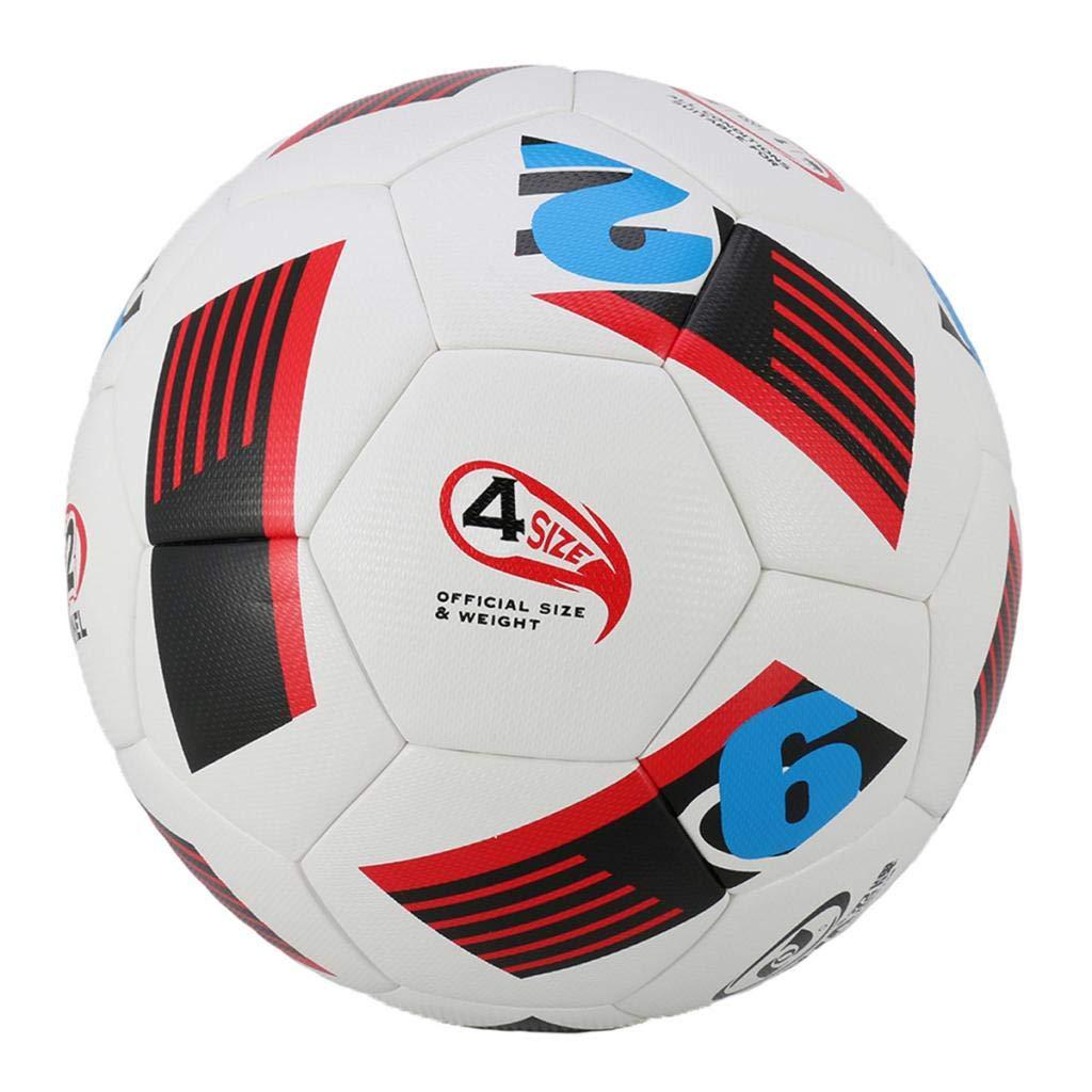 34f5390237231 P Prettyia Pelota de Fútbol Oficial Juego al Aire Libre en Interiores - Rojo   Amazon.es  Deportes y aire libre