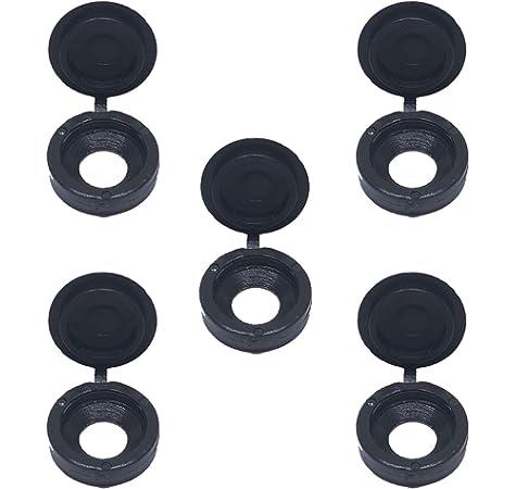 50//200x Plastic Screw Cover Caps Clip On Pozi Head Black White ColourHFUK