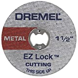 Dremel EZ456 1-1/2-Inch EZ Lock Rotary Tool Cut-Off Wheels for Metal, 5-Pack
