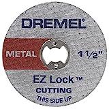 Dremel EZ456 1-1/2-Inch EZ Lock Rotary Tool Cut-Off Wheels for Metal, 5-Pack