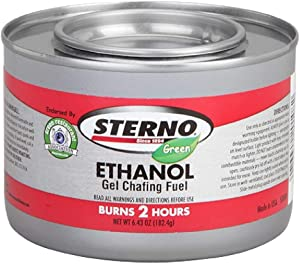 Sterno - Ethanol Gel Chafing Fuel/ Burns for 2 Hours/ Entertainment Cooking/ Camping/ Catering/ Biodegradable - GRA Endorsed (Pack of 6)