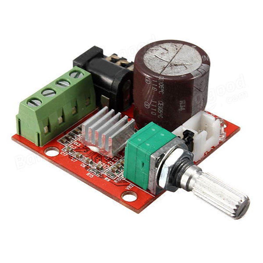 Hiletgo Pam8610 Mini Stereo Amp Audio Amplify Board Simple 10w Amplifier Digital Portable Ampli Module Dual Channel Class D 12v Dc Home